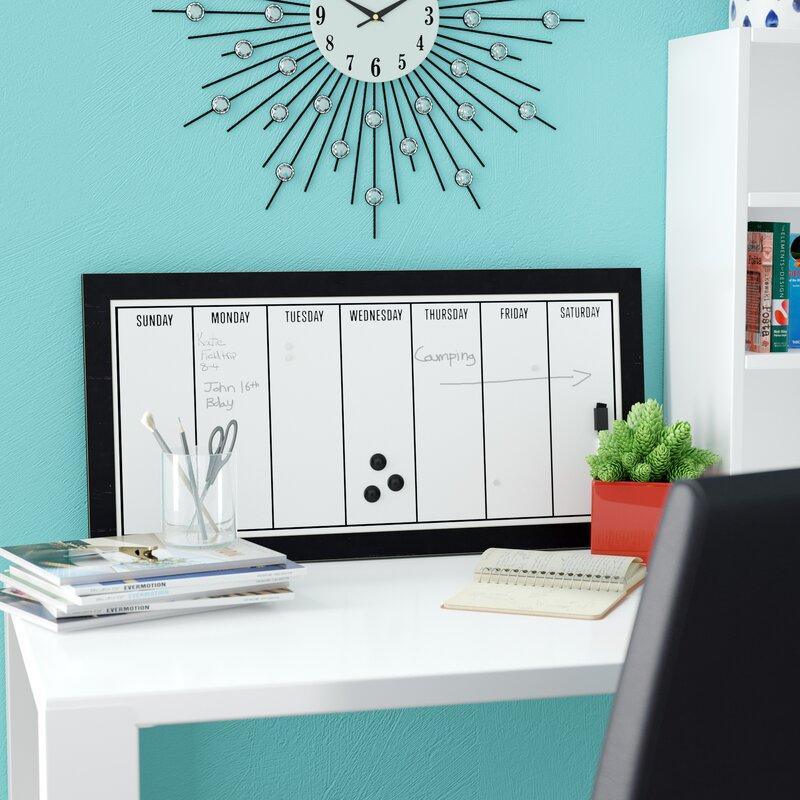 Weekly Calendar Magnetic Dry Erase Board