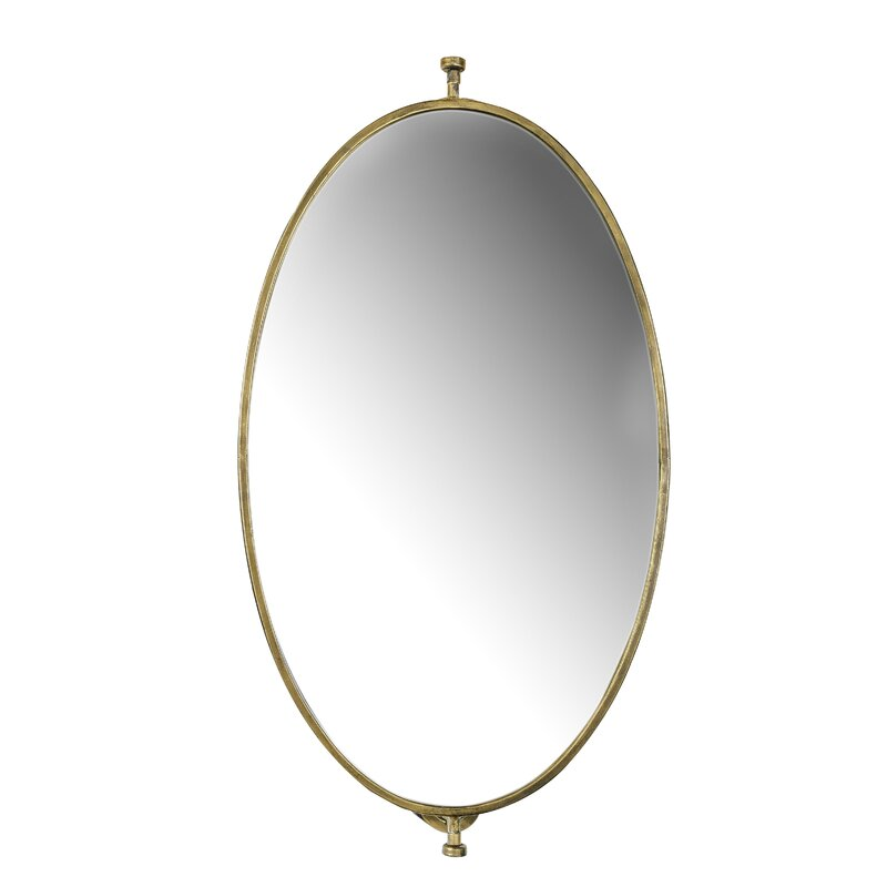Mercer41 Seay Industrial Beveled Distressed Accent Mirror Reviews Wayfair