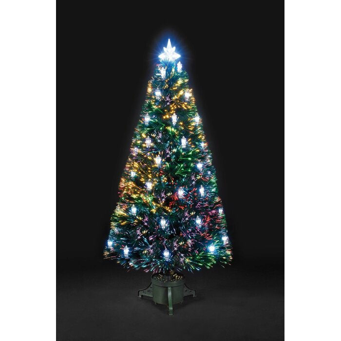 4 Ft Christmas Tree.4ft Artificial Christmas Tree With 32 Led Multi Colored Lanterns