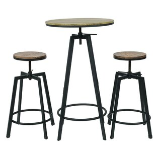 Commercial Seating Products Max 3 Piece Bar Table Set