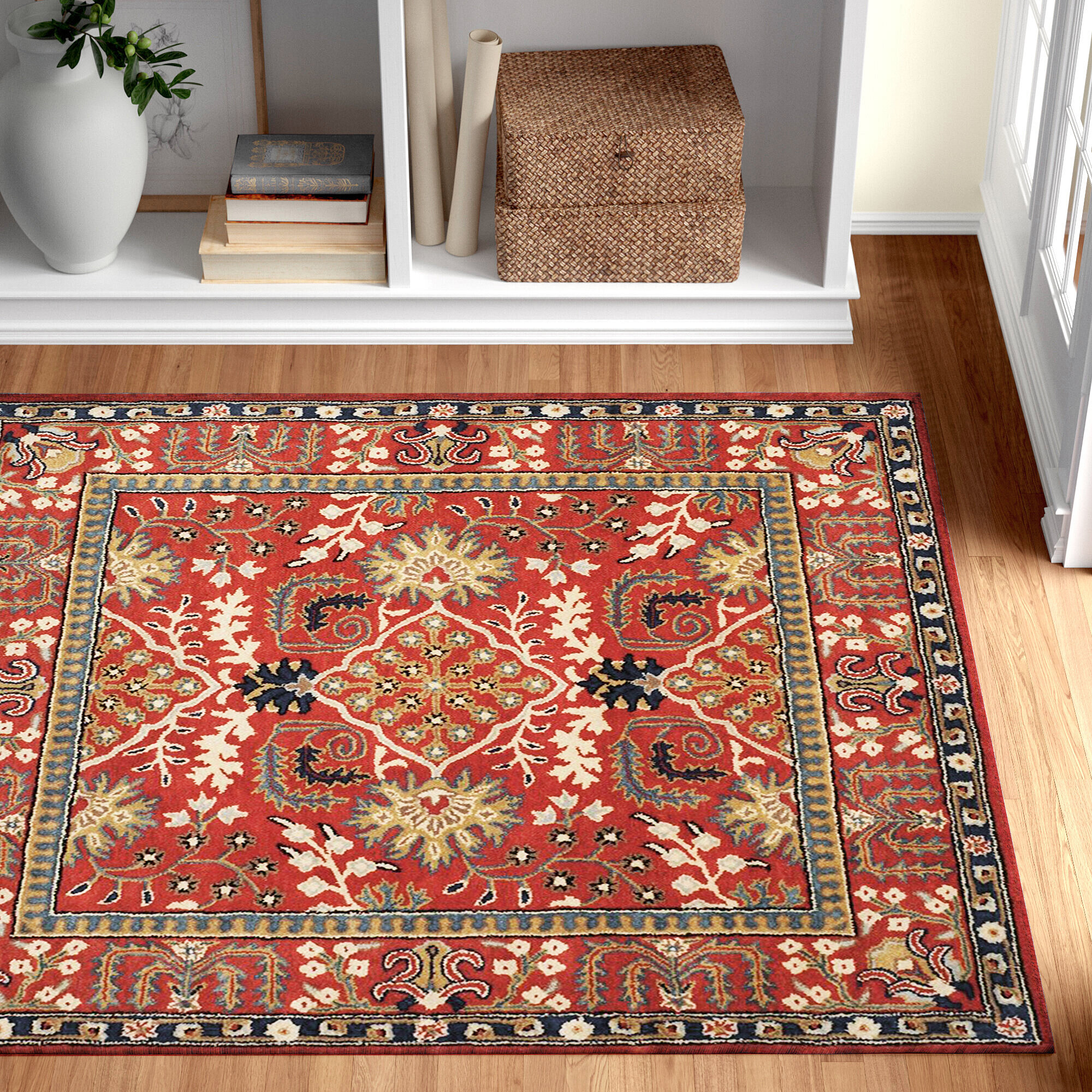 Three Posts Ashville Hand Tufted Wool Red Area Rug Reviews Wayfair