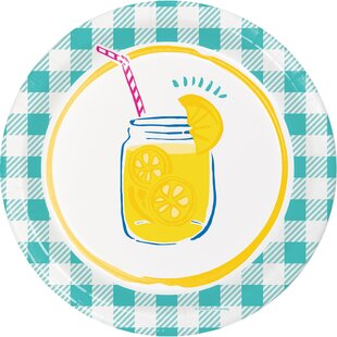 Picnic Lemonade Paper Disposable Dessert Plate (Set of 24)