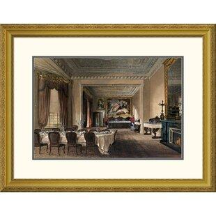 U0027The Dining Room, Osborne Houseu0027 By James Roberts Framed Graphic Art