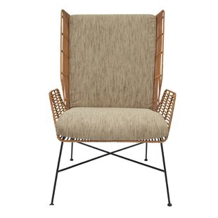 Krumm Rattan Wingback Chair  sc 1 st  AllModern & Modern u0026 Contemporary Wicker Rattan Chairs | AllModern