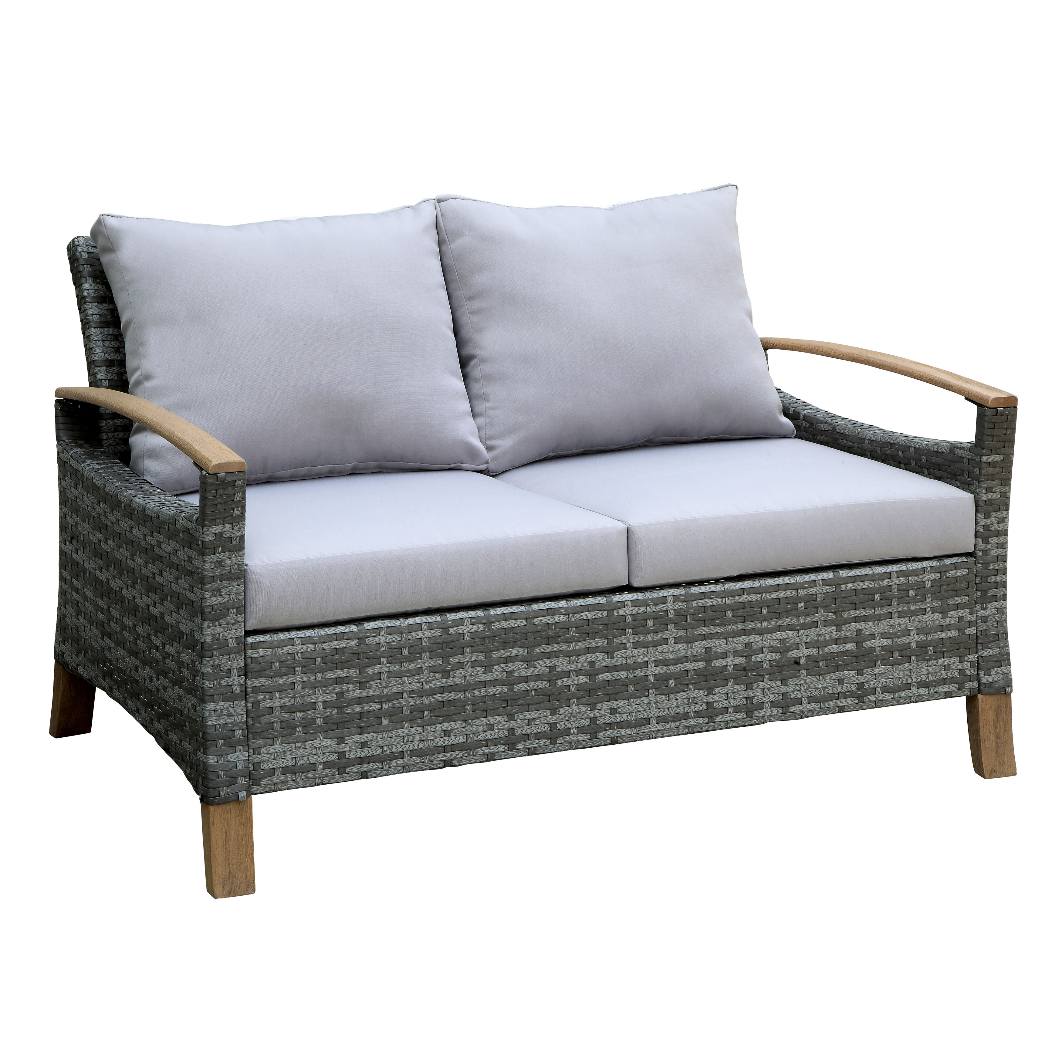Penniman Contemporary Loveseat with Cushions