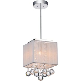1-Light Square/Rectangle Pendant by CWI Lighting