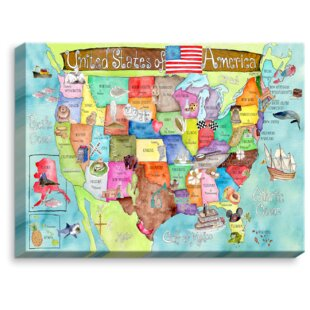 United States Map Canvas | Wayfair