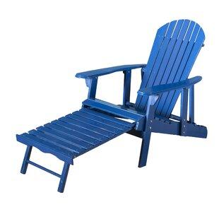 Beau Navy Blue Adirondack Chair | Wayfair