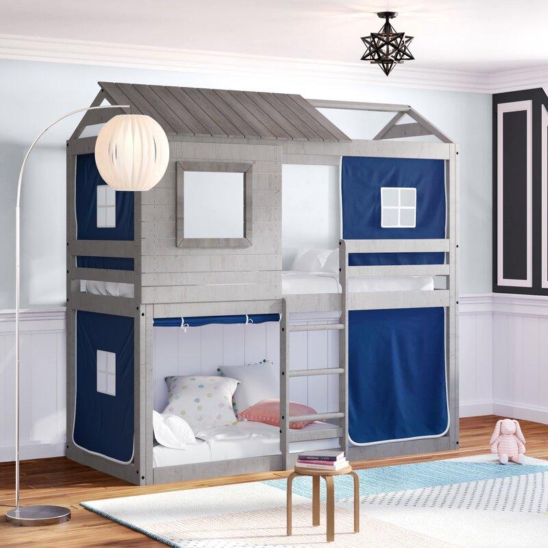 Zoomie Kids Diaz Twin Bunk Bed & Reviews | Wayfair