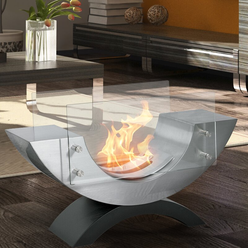 Pureflame Half Ellipse Bio-Ethanol Tabletop Fireplace