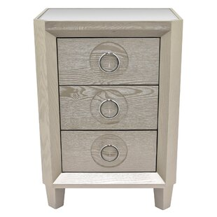 Garber 3 Drawers Accent Chest by Bungalow Rose