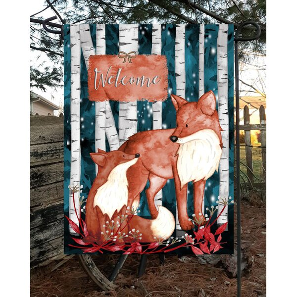 Flags Galore Decor And More Two Fox 2 Sided Polyester 18 X 12 In Garden Flag Wayfair