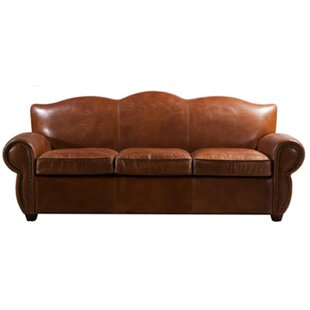 Nickolas Leather 3 Seater Sofa By Williston Forge