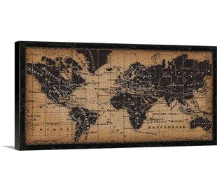U0027Old World Map Graphic Art Print