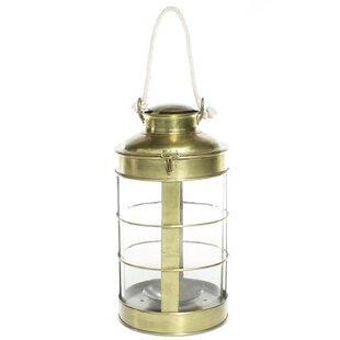 Metal/Glass Lantern by Breakwater Bay