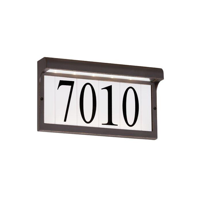 5 Tile Address Plaque Frame