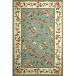 Labrosse Slate Blue / Ivory Floral Area Rug by August Grove
