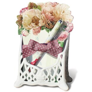 August Grove Carlson 3 Piece Ceramic Memo Pad Holder