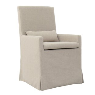 Gracie Oaks Hoang Arm Dining Upholstered Dining Chair