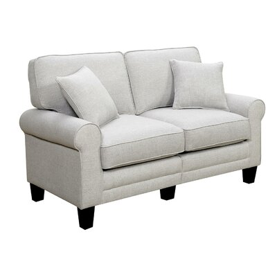 Buxton Loveseat Upholstery Color: Light Gray by Beachcrest Home