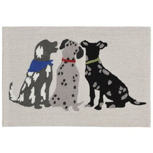 Mcmillan Three Dogs Hand-Tufted Gray/Black Indoor/Outdoor Area Rug