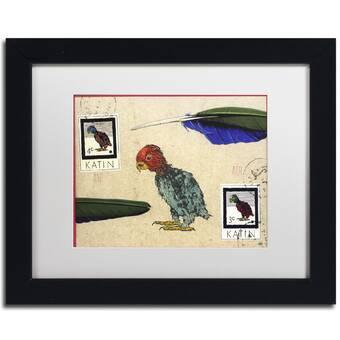 Trademark Art Nick Bantock Rainbow Lizard Picture Frame Graphic Art Print On Canvas Wayfair