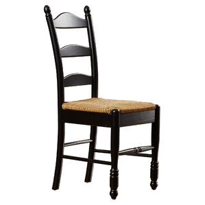 ladder back solid wood dining chair set of 2