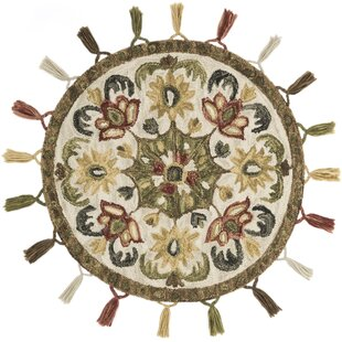 Savings Rashida Hand-Hooked Wool Olive/White Area Rug By World Menagerie