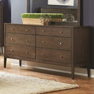 Union Rustic Hurley 6 Drawer Double Dresser