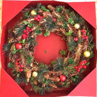 LED Bauble 48cm Lighted Wreath By The Seasonal Aisle