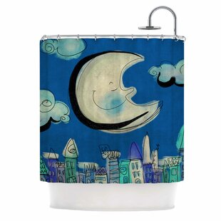 East Urban Home Carina Povarchik Moon Shower Curtain