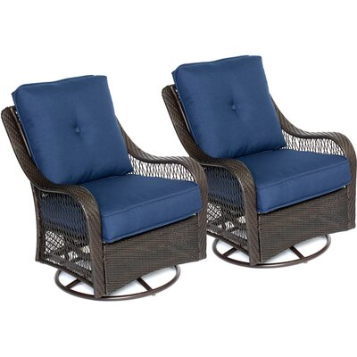 Innsbrook Patio Chair with Cushion Cushion Color: Navy Blue by Alcott Hill
