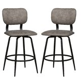 Hagerstown Swivel Bar & Counter Stool (Set of 2) by Latitude Run