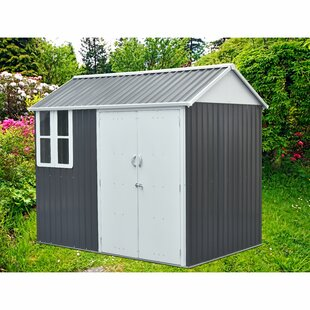 8 Ft. 6 In. W X 5 Ft. 7 In. D Metal Storage Shed By Hanover