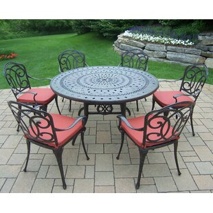 Oakland Living Berkley 7 Piece Dining Set with Cushions
