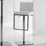 Maoli Swivel Adjustable Height Bar Stool by Orren Ellis