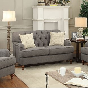 Oakes Standard Loveseat Canora Grey