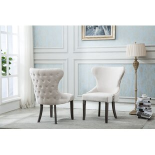 Shackelford Upholstered Dining Chair (Set of 2) Gracie Oaks