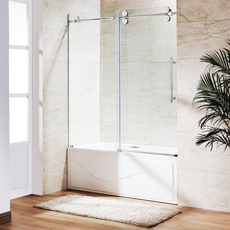 Vigo Elan 60 X 66 Single Sliding Frameless Tub Door Reviews