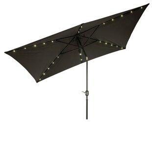 Mertie 10' x 6.5' Rectangular Market Umbrella