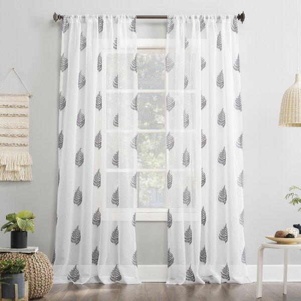 cotton voile Sheer Drape printed sizes available Grey shibori print curtain Panel