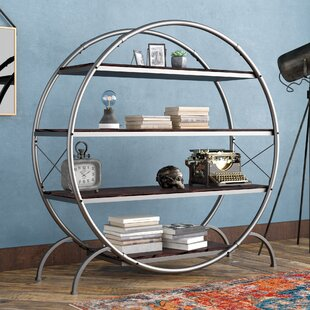 17 Stories Evon Industrial Geometric Bookcase