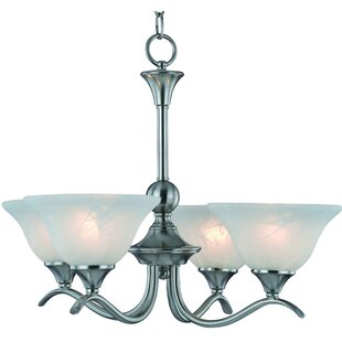 Great deal Dover 4-Light Shaded Chandelier By Hardware House