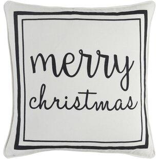 Dozier Merry Cotton Throw Pillow