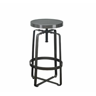 DHC Furniture Adjustable Height Swivel Bar Stool