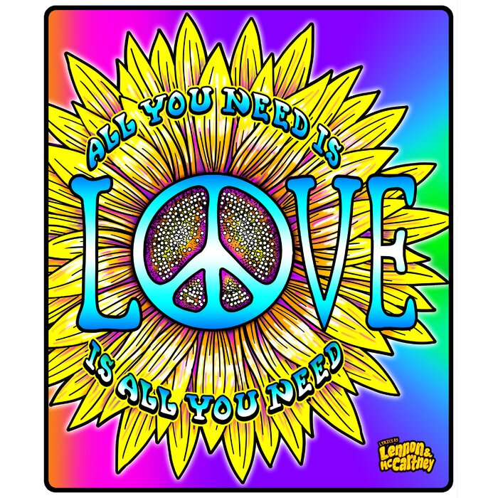 Lennon and Mccartney All You Need Is Love Throw