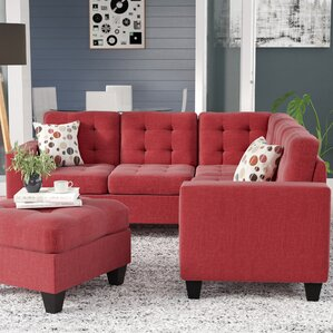 Pawnee Modular Sectional with Ottoman : small sectional - Sectionals, Sofas & Couches