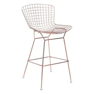 Shopping for Bessemer Wire 28.3 Bar Stool (Set of 2) by Ivy Bronx Reviews (2019) & Buyer's Guide