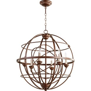One Allium Way Paladino 6-Light Globe Chandelier