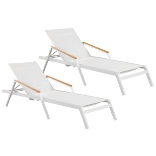 Orren Ellis Skylar Lounger Chaise Lounge Set (Set of 2)